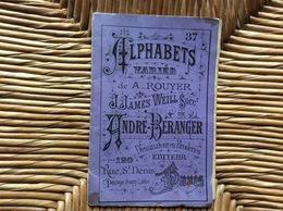 DOCUMENT COMMERCIAL ALPHABETS Varies ANDRE-BERANGER A.ROUYER J.JAMES WEILL  Desssins De Broderie Lingerie Dessinée - Loisirs Créatifs