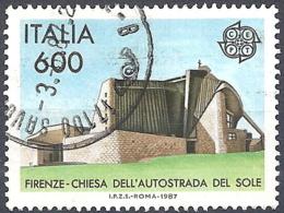Italia,1987 Europa, 600L # Sassone 1799 - Michel 2010 - Scott 1706 USATO - 6. 1946-.. Republik