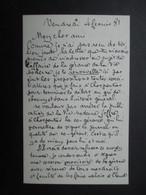 AUTOGRAPHE (V1907) EMILE BERGERAT (4 Vues)  4 Février 1881 Vers LOUIS LEGRAND La VIE MODERNE (Georges Charpentier) - Autographes
