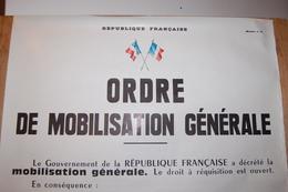 """Affiche Originale - Original Poster """"ORDRE DE MOBILISATION GENERALE"""" - Modèle 11 - Documents"""