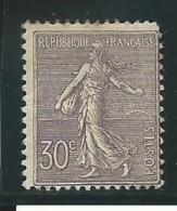 FRANCE: *, N° YT 133, Lilas, Rousseurs, AB - 1903-60 Säerin, Untergrund Schraffiert