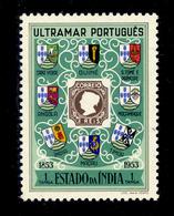! ! Portuguese India - 1953 1st Postal Stamp - Af. 434 - MNH - India Portuguesa