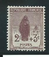 FRANCE; *, N° YT 148, Brun-lilas, Ch. Trés Légère, TB - Gebraucht