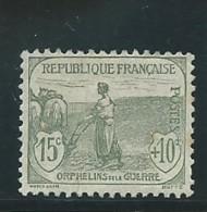 FRANCE; *, N° YT 150, Gris-vert, Rousseurs, Ch., AB - France