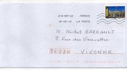 """2019--  Tp Adhésif   """" PARIS-- Grand Palais  """" - Seul  Sur Lettre ... - Marcophilie (Lettres)"""