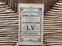 DOCUMENT COMMERCIAL  MANUFACTURE PARISIENNE Des COTONS Et CÂBLES L.V. *Alphabets Cordonnets & Cotons Pour Crochets - Creative Hobbies