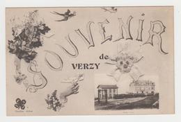 BO255 - VERZY - Souvenir De Verzy - La Gare Avec Train - Verzy