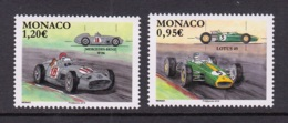 29.- MONACO 2018 RACING CARG - LOTUS AND MERCEDES BENZ - Unused Stamps