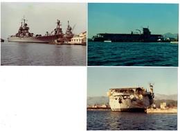 Photographie - LOT 3 - Bateau De Guerre -  Béarn 1966 - 1968-1966- - Schiffe