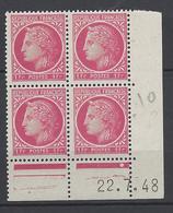 CD 676 FRANCE 1948 COIN DATE 676 : 22 / 7 / 48 TYPE CERES DE MAZELIN - 1940-1949