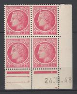 CD 676 FRANCE 1948 COIN DATE 676 : 24 / 11 / 48 TYPE CERES DE MAZELIN - 1940-1949