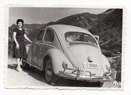 1961 VOLKSWAGEN BEETLE, ORIGINAL PHOTOGRAPH, ON THE WAY TO DIVCIBARE MOUNTAIN, YUGOSLAVIA, SERBIA - Cars