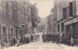 43. LANGEAC. JAHON. CPA . ANIMATION RUE LAFAYETTE.  + TEXTE DU  19 JANVIER 1916 - Langeac