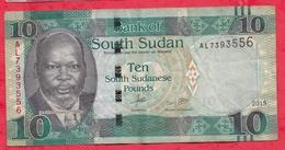 Soudan Du Sud 10 South Sudanese Pounds-- 2015---VG/TTB - Soudan Du Sud