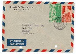 1958 SYRIA, ALEP TO BELGRADE, YUGOSLAVIA, AIR MAIL - Syria
