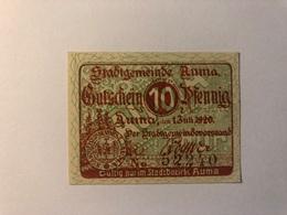 Allemagne Notgeld Auma 10 Pfennig - [ 3] 1918-1933 : Repubblica  Di Weimar