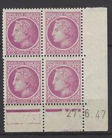 CD 679 FRANCE 1947 COIN DATE 679 : 27 / 6 / 47 TYPE CERES DE MAZELIN - 1940-1949
