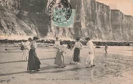 § 76 Le Treport Jeu De Croquet Sur La Plage Cpa Carte Animée Femme Femmes Cachet 1907 - Le Treport