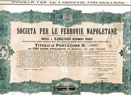 Italie: SOCIETÀ Per Le FERROVIE NAPOLETANE - Chemin De Fer & Tramway