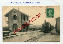 Gare-BOURG ET COMIN-C.B.R.-locomotive-Train-ligne Soissons-Rethel-France-02 - France