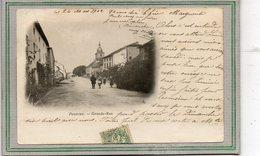 CPA - POUXEUX (88) - Aspect De L'entrée Du Bourg Par La Grande-Rue En 1902 - Pouxeux Eloyes