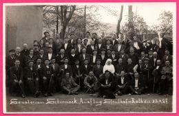 Cp Photo - Sanatorium De Schirmeck - Ausflug Struthof Roth - Excursion - Cannes - Sœur - Animée - 22.4.1927 - Schirmeck