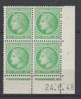 CD 680 FRANCE 1948 COIN DATE 680 : 24 / 6 / 48 TYPE CERES DE MAZELIN - 1940-1949