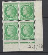 CD 680 FRANCE 1948 COIN DATE 680 : 2 / 1 / 48 TYPE CERES DE MAZELIN - 1940-1949