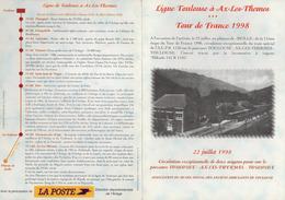 Encart Ambulant Voyage Toulouse Ax-les-Thermes Tour De France 1998 - Radsport