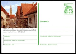 75499) BRD - P 134 - I4/51 - * Ungebraucht - 8802 Wolframs-Eschenbach - Stadtansicht, Velo - BRD