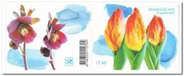 Estland 2003, Postfris MNH, Birds, Flowers ( Booklet, Carnet ) - Estland