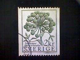 Sweden (Sverige), Scott #1490, Used (o), 1984, Conservation, Angelica Flower, 1.90k, Gray Green - Used Stamps