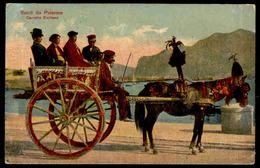 Saluti Da Palermo - Carretto Siciliano - Viaggiata 1910 - 06235 - Palermo