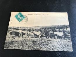Le Cantal Et La Charaigneraie - Les Semailles - 1910 Timbrée - France