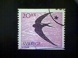 Sweden (Sverige), Scott #1703, Used (o), 1988, Common Swift Bird, 20k, Bright Violet And Dark Violet - Used Stamps