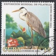 Cuba 2001 Sc. 4125 Uccelli Birds - Airone Cenerino Chrysolophus Pictus Nuovo CTO - Gru & Uccelli Trampolieri