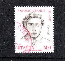 Italia   -   1987.  Antonio Gramsci. Splendido Timbro Rosso - Scrittori