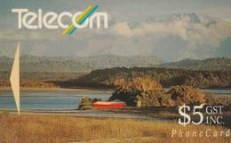 TARJETA TELEFONICA DE NUEVA ZELANDA, 1991 Landscapes. Okarito Lagoon, 7NZDB. NZ-G-025b. (068) - Nueva Zelanda
