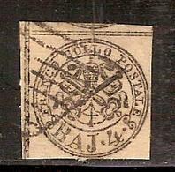 (Fb).A.Stati.Pontificio.1852.-4baj Bruno Grigio Chiaro Usato (197-16) - Stato Pontificio