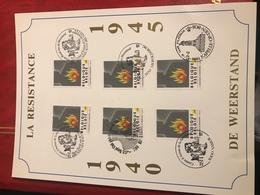 Feuillet 1992 Résistance - Used Stamps