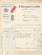 FA 1276 - FACTURE  -   CHICOREE EXTRA  B. BOURGEOIS & LABBE   CAMBRAI & PROVILLE (NORD) - Alimentos