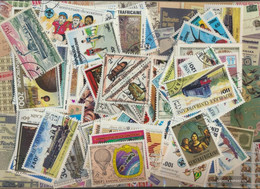 Central African Republic Stamps-200 Different Stamps - Central African Republic