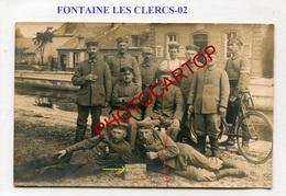 FONTAINE LES CLERCS-Poste De Garde Du Canal-CARTE PHOTO Allemande-GUERRE 14-18-1WK-France-02- - Autres Communes