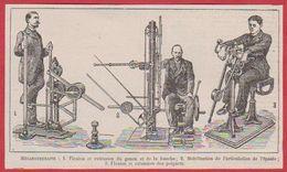 Mécanothérapie. Premiers Appareils De Musculation. Larousse 1920 - Vecchi Documenti