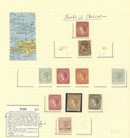 LOTS AND COLLECTIONS: 4 Album Pages With Varied Stamps, Fine To Very Fine General Quality, Low Start! - Turks & Caicos