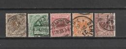 DR - TIMBRE POSTE - 1889 - MI : 45/47 + 49/50  - OBLITERE - VOIR DESCRIPTIF - - Oblitérés