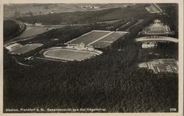 ALEMANIA , TARJETA POSTAL SIN CIRCULAR - FRANKFURT STADION - GESAMTANSICHT AUS DER VOGELSCHAU - Estadios