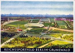 ALEMANIA , TARJETA POSTAL SIN CIRCULAR -  REICHSSPORTFELD BERLIN GRUNEWALD - Estadios