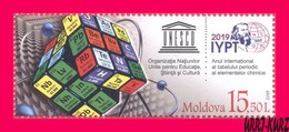 MOLDOVA 2019 UNESCO International Year Of Periodic Table Of Chemical Elements By Mendeleyev 1v Sc1037 Mi1102 MNH - Moldova