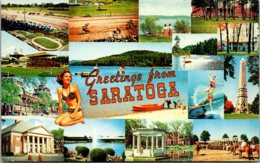 New York Greetings From Saratoga Springs Multi View - Saratoga Springs